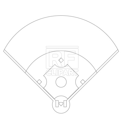 Softball field Baseball Field Positions Template